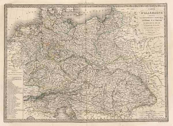 38-Europe, Europe, Germany, Austria and Poland Map By Alexandre Emile Lapie