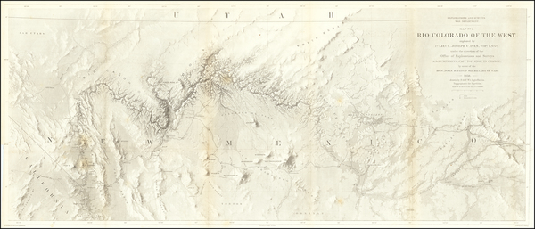 43-Southwest, Arizona, Nevada, New Mexico and California Map By Joseph C. Ives