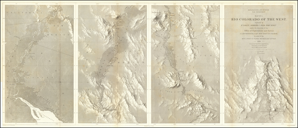 6-Southwest, Arizona, Nevada, New Mexico and California Map By Joseph C. Ives