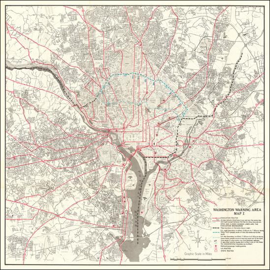 40-Washington, D.C. and World War II Map By