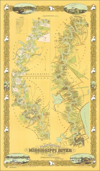 41-South and Louisiana Map By Joseph Aiena