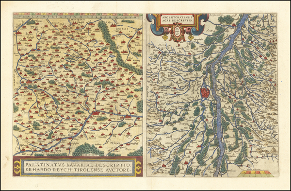 81-France and Germany Map By Abraham Ortelius