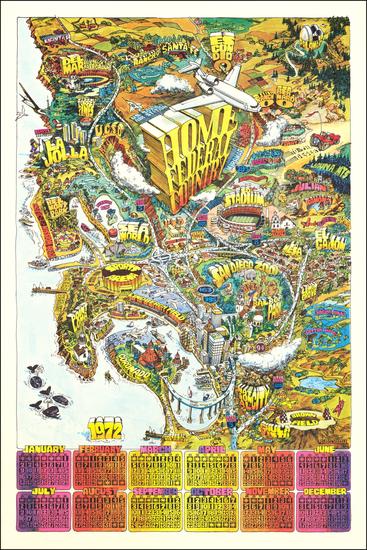 50-San Diego Map By Darrel Millsap