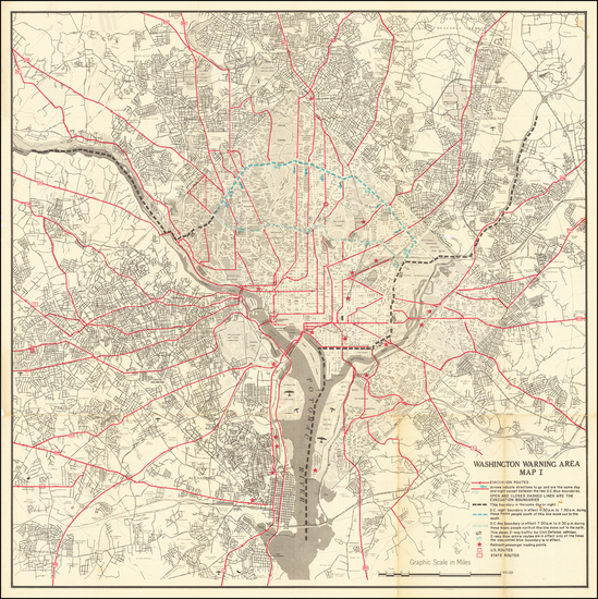 53-Washington, D.C. and World War II Map By