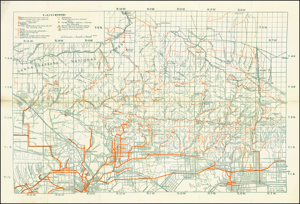28-California and Los Angeles Map By Pacific Electric Railway