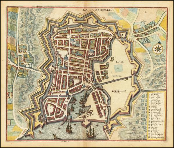 86-France Map By Matthaus Merian