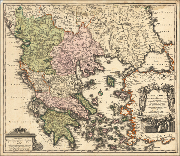 76-Greece Map By Abraham Ortelius