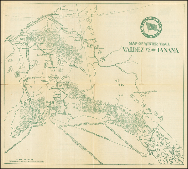35-Alaska Map By A. Burr