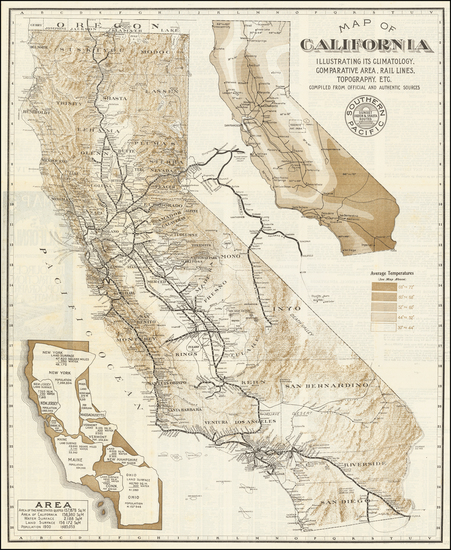 89-California Map By Southern Pacific Railroad Company