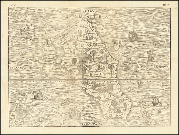 67-Indonesia and Sri Lanka Map By Giovanni Battista Ramusio