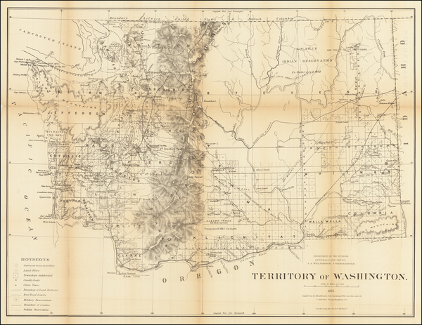 76-Washington Map By General Land Office