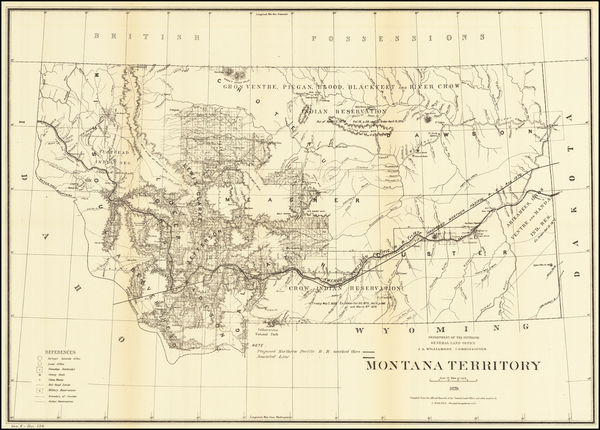 3-Montana Map By General Land Office