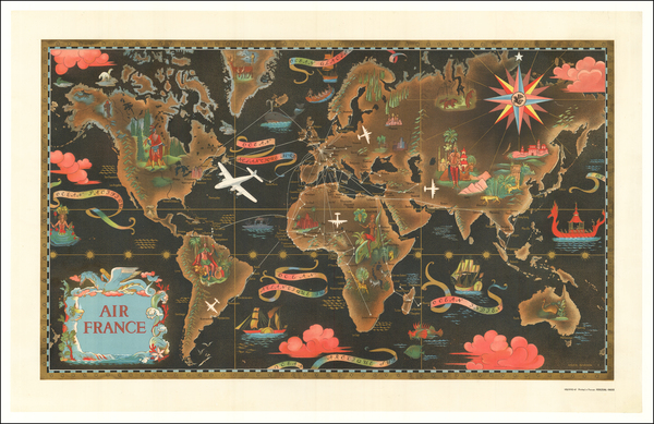 78-World and Pictorial Maps Map By Lucien Boucher