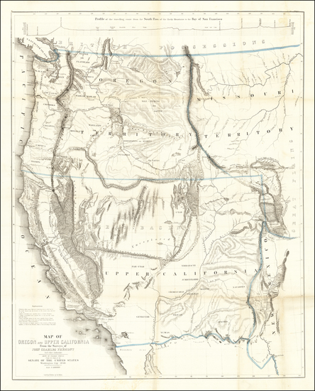 65-Southwest, Colorado, Utah, Nevada, Rocky Mountains, Oregon, Washington and California Map By Jo