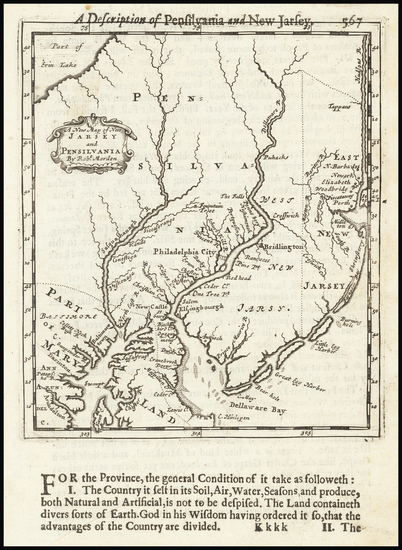 26-Mid-Atlantic, New Jersey and Pennsylvania Map By Robert Morden