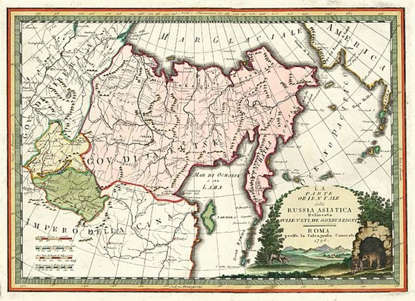 44-Alaska, Asia, China, Central Asia & Caucasus and Russia in Asia Map By Giovanni Maria Cassi