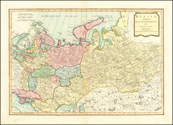 26-Russia, Ukraine, Central Asia & Caucasus and Russia in Asia Map By Samuel Dunn