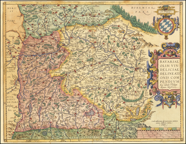 86-Germany Map By Abraham Ortelius
