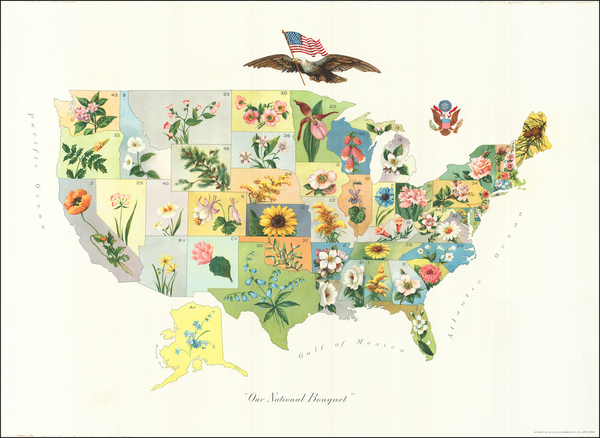 37-United States and Pictorial Maps Map By Anonymous