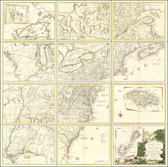 67-United States Map By Antonio Zatta