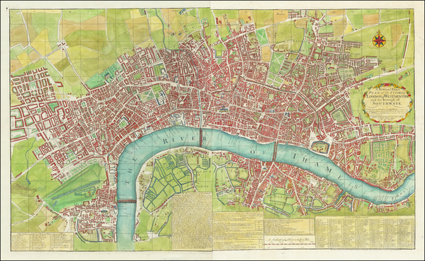 66-London Map By Carington Bowles II  &  Samuel Carver