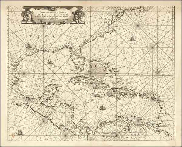 92-Florida, Southeast, Caribbean and South America Map By Johannes van Loon