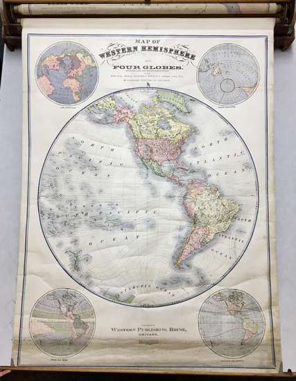 11-World and Atlases Map By Levi W. Yaggy