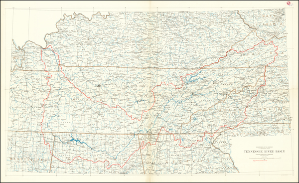 39-Tennessee Map By U.S. Geological Survey