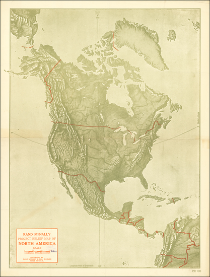 32-North America Map By Rand McNally & Company