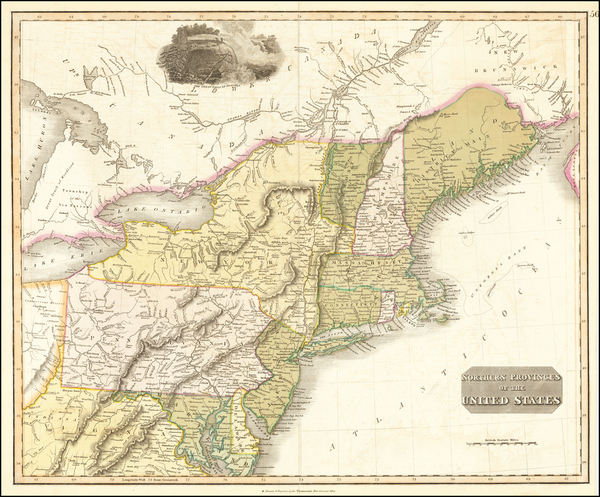 96-New England, New York State and Mid-Atlantic Map By John Thomson