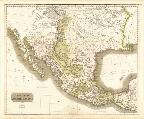 33-Texas, Plains, Southwest, Rocky Mountains and Mexico Map By John Thomson