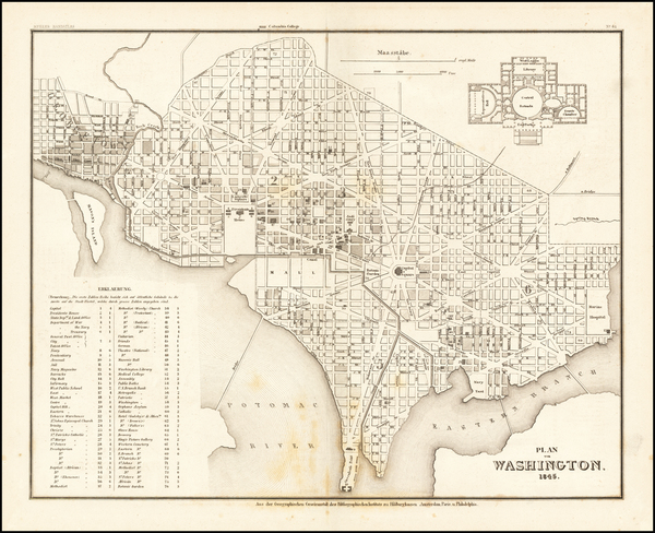 96-Washington, D.C. Map By Joseph Meyer
