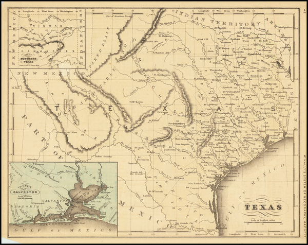 61-Texas Map By William McNally