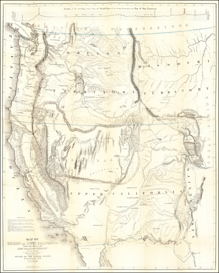 59-Southwest, Colorado, Utah, Nevada, Rocky Mountains, Oregon, Washington and California Map By Jo