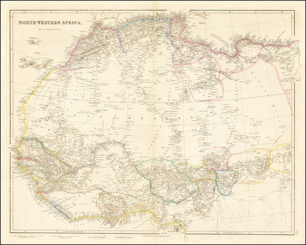 39-North Africa and West Africa Map By John Arrowsmith