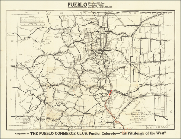 4-Colorado and Colorado Map By The Clason Map Company