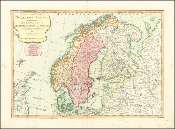 33-Baltic Countries and Scandinavia Map By Samuel Dunn