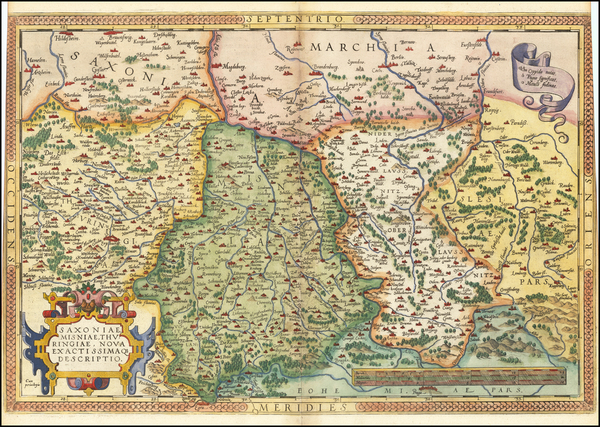 36-Germany and Czech Republic & Slovakia Map By Abraham Ortelius