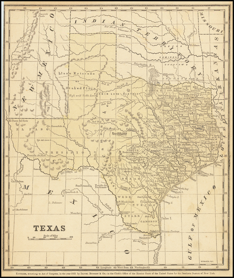 1-Texas Map By Daniel Burgess & Co.