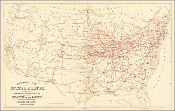 56-United States Map By Samuel Augustus Mitchell Jr.