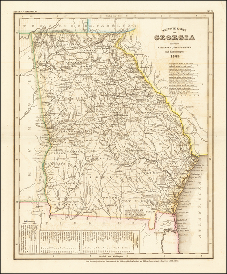 1-Georgia Map By Joseph Meyer