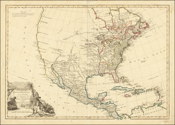 71-United States and North America Map By Louis Brion de la Tour / Esnauts & Rapilly