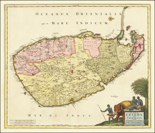 45-Sri Lanka Map By Nicolaes Visscher I
