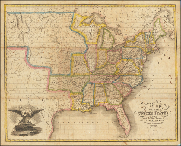 60-United States Map By Solomon Schoyer
