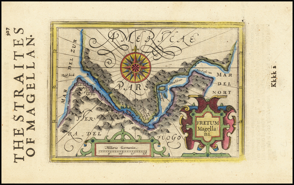 63-Argentina and Chile Map By Jodocus Hondius -  Gerard Mercator