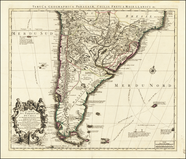 9-Argentina and Chile Map By Johannes Covens  &  Cornelis Mortier