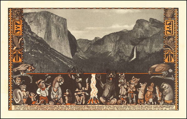 62-Pictorial Maps and Yosemite Map By Jo Mora