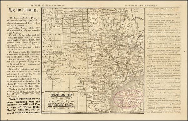 15-Texas Map By Texas Products and Progress