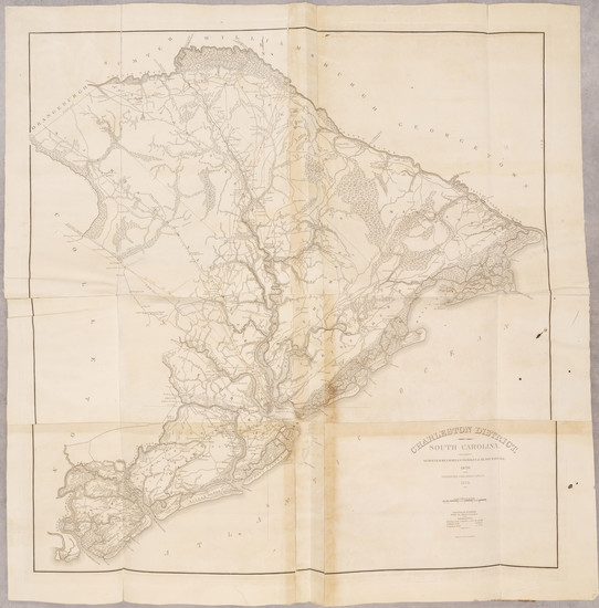 27-South Carolina and Atlases Map By Robert Mills