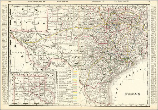 67-Texas Map By George F. Cram